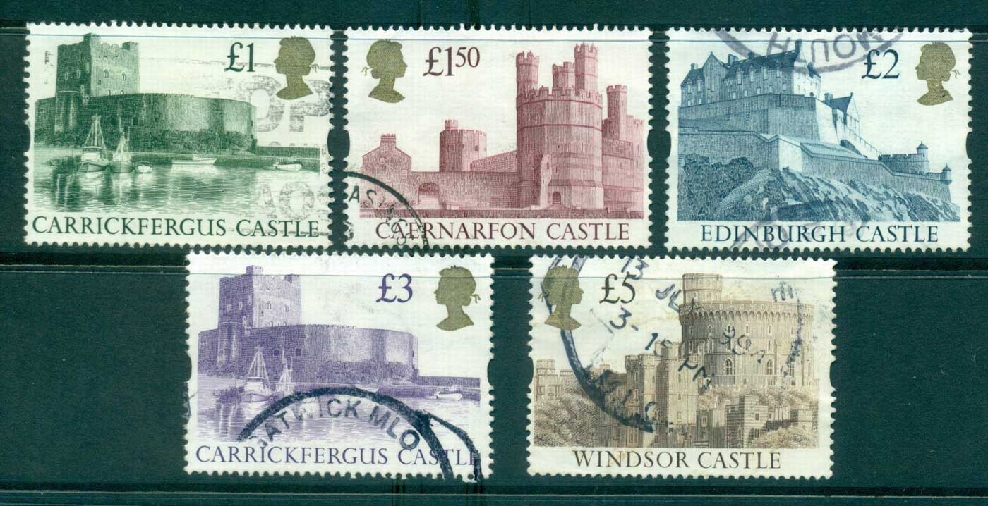 GB 1992-95 Castles Syncopated (5) FU lot33005