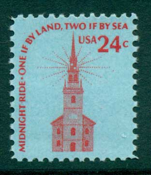 USA 1975-81 Sc#1603 24c Old North Church Boston MUH lot33264