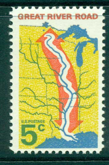 USA 1966 Sc#1319 Great River Road MUH lot33335