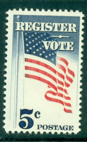 USA 1964 Sc#1249 Register & Vote MUH lot33399