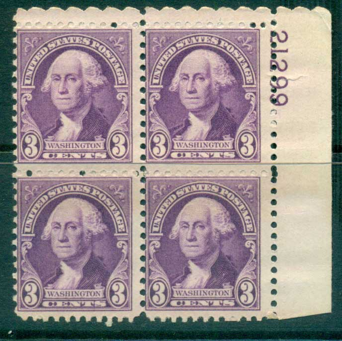 USA 1932 Sc#720 3c Washington PB#21299 MUH lot33629