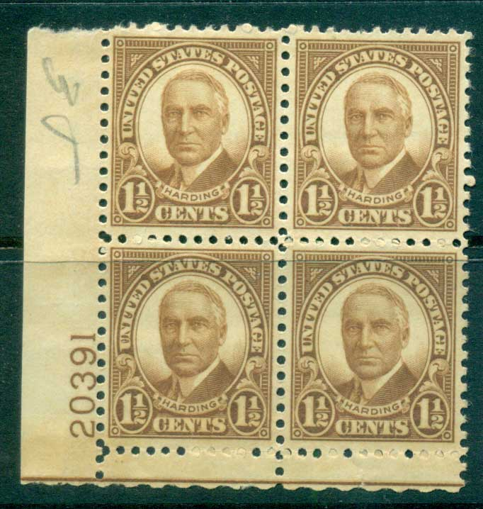 USA 1930 Sc#684 1�c Warren Harding FF PB#20391 MUH lot33633