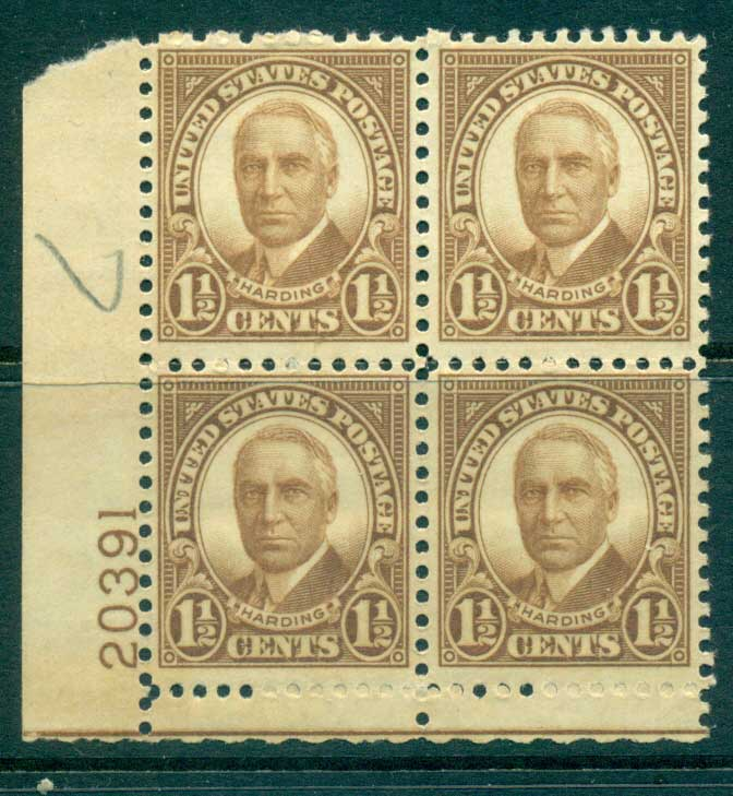 USA 1930 Sc#684 1�c Warren Harding FF PB#20391 MUH lot33634