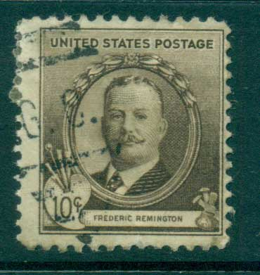 USA 1940 Sc#888 10c Frederic Remington FU lot33660