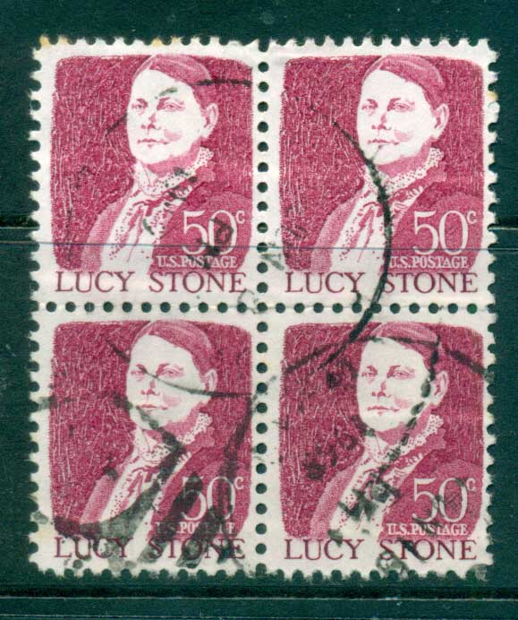 USA 1965-78 Sc#1293 50c Lucy Stons Blk 4 FU lot33670