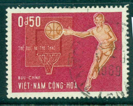 Vietnam South 1965 50c Javelin FU lot33814
