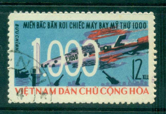 Vietnam North 1966 100th US Warplane Shot Down FU lot33843