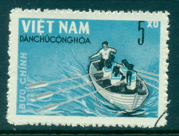 Vietnam North 1964 5xu Rowing (1/4) FU lot33848