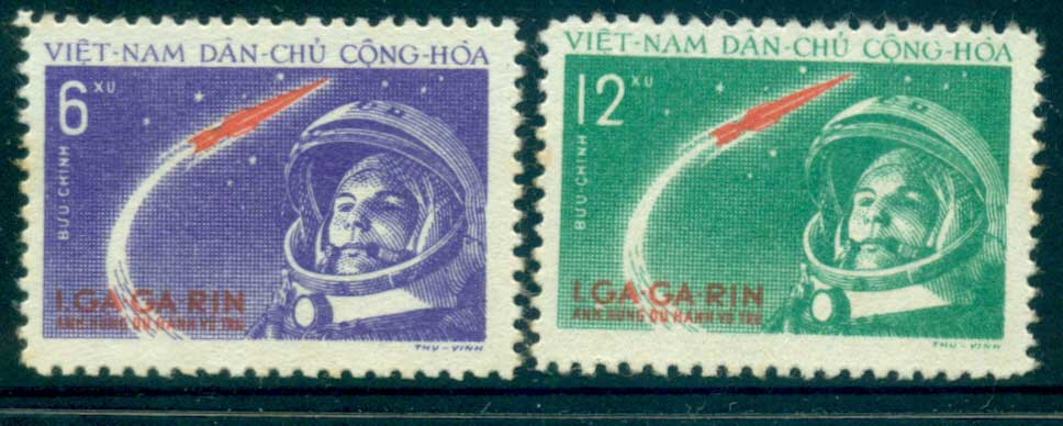Vietnam North 1961 Yuri Gagarin's Space Flight MUH lot33867