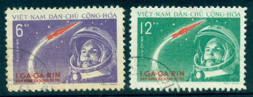 Vietnam North 1961 Yuri Gagarin's Space Flight FU lot33868