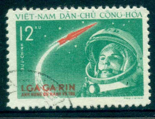 Vietnam North 1961 12xu Yuri Gagarin's Space Flight FU lot33869