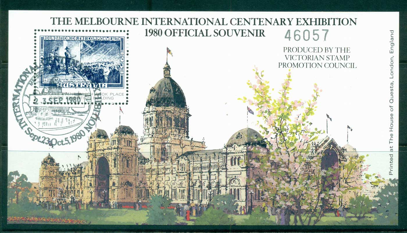 Australia 1980 Melbourne International Centenary Exhibition MS CTO lot34287