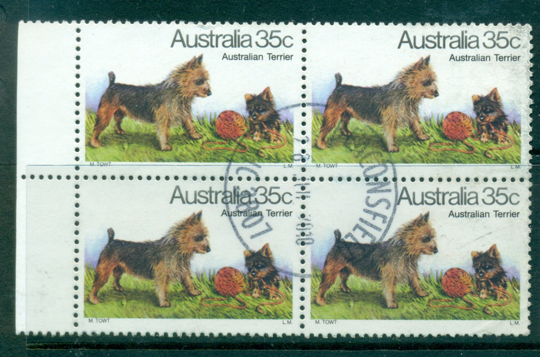 Australia 1980 Dogs 35c Terrier Blk 4 FU lot34306