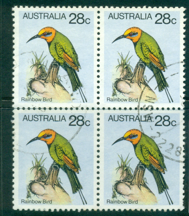 Australia 1980 28c Rainbow Bird Blk 4 FU lot34389