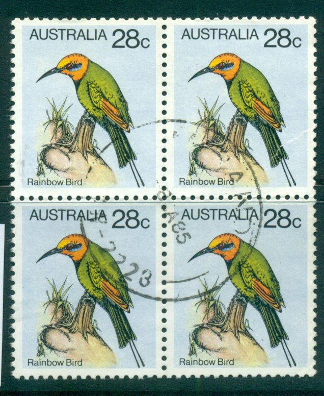 Australia 1980 28c Rainbow Bird Blk 4 FU lot34390