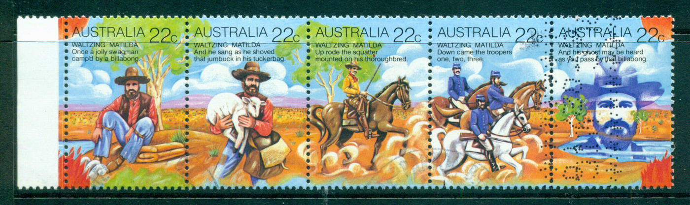 Australia 1980 Waltzing Matilda Str 5 FU lot34507