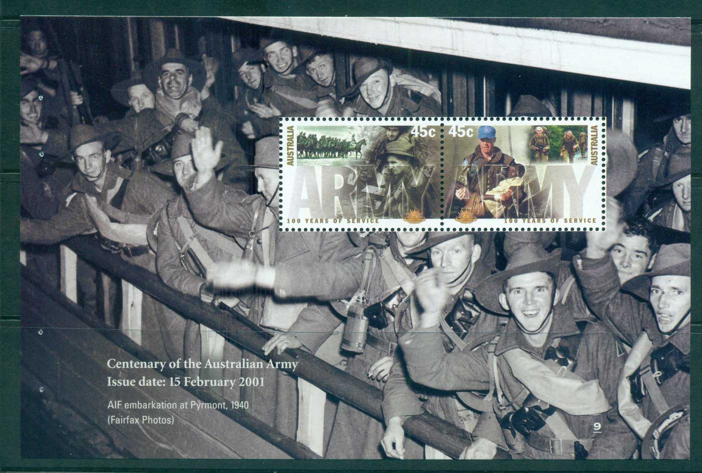 Australia 2010 #9 Army Booklet pane MUH lot34628
