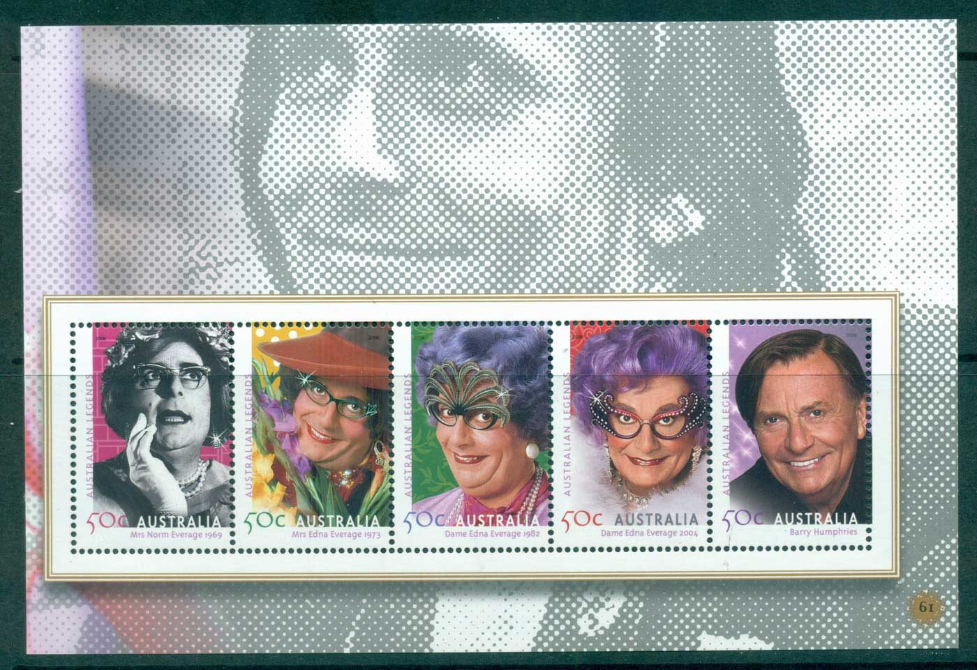 Australia 2010 #61 Australian Legends Barry Humphries Booklet pane MUH lot34638