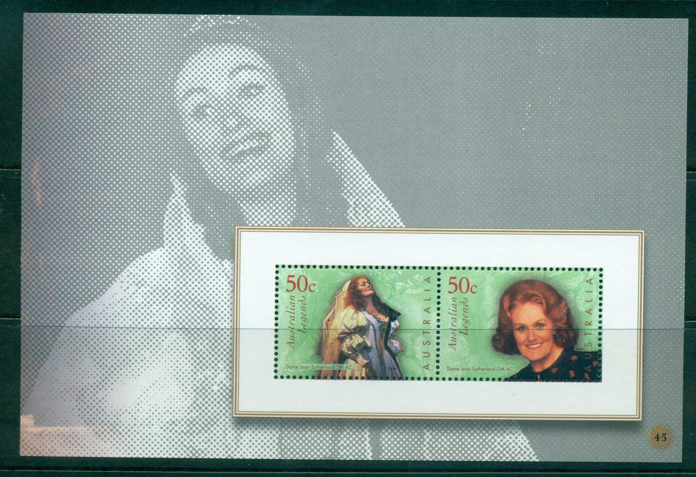 Australia 2010 #45 Australian Legends Joan Sutherland Booklet pane MUH lot34640