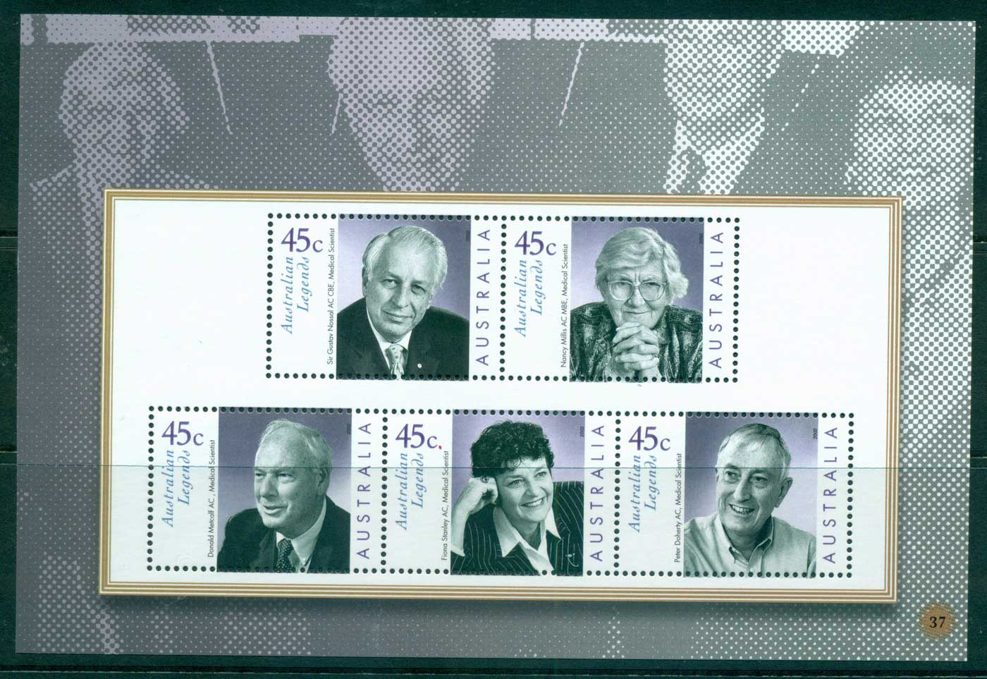 Australia 2010 #37 Australian Legends Medical Researchers Booklet pane MUH lot34642