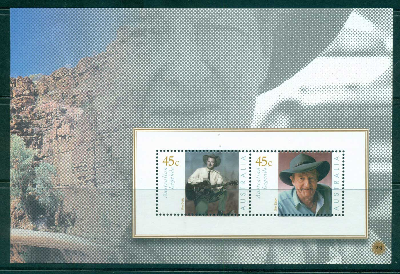 Australia 2010 #29 Australian Legends Slim Dusty Booklet pane MUH lot34643