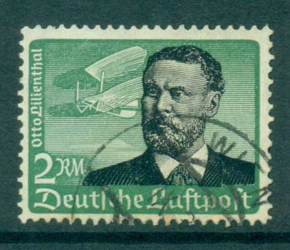 Germany 1934 2M Otto Lilienthal Air (lt tones) FU lot34739