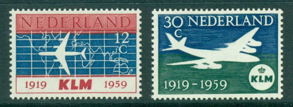 Netherlands 1959 KLM Airlines MLH lot34815