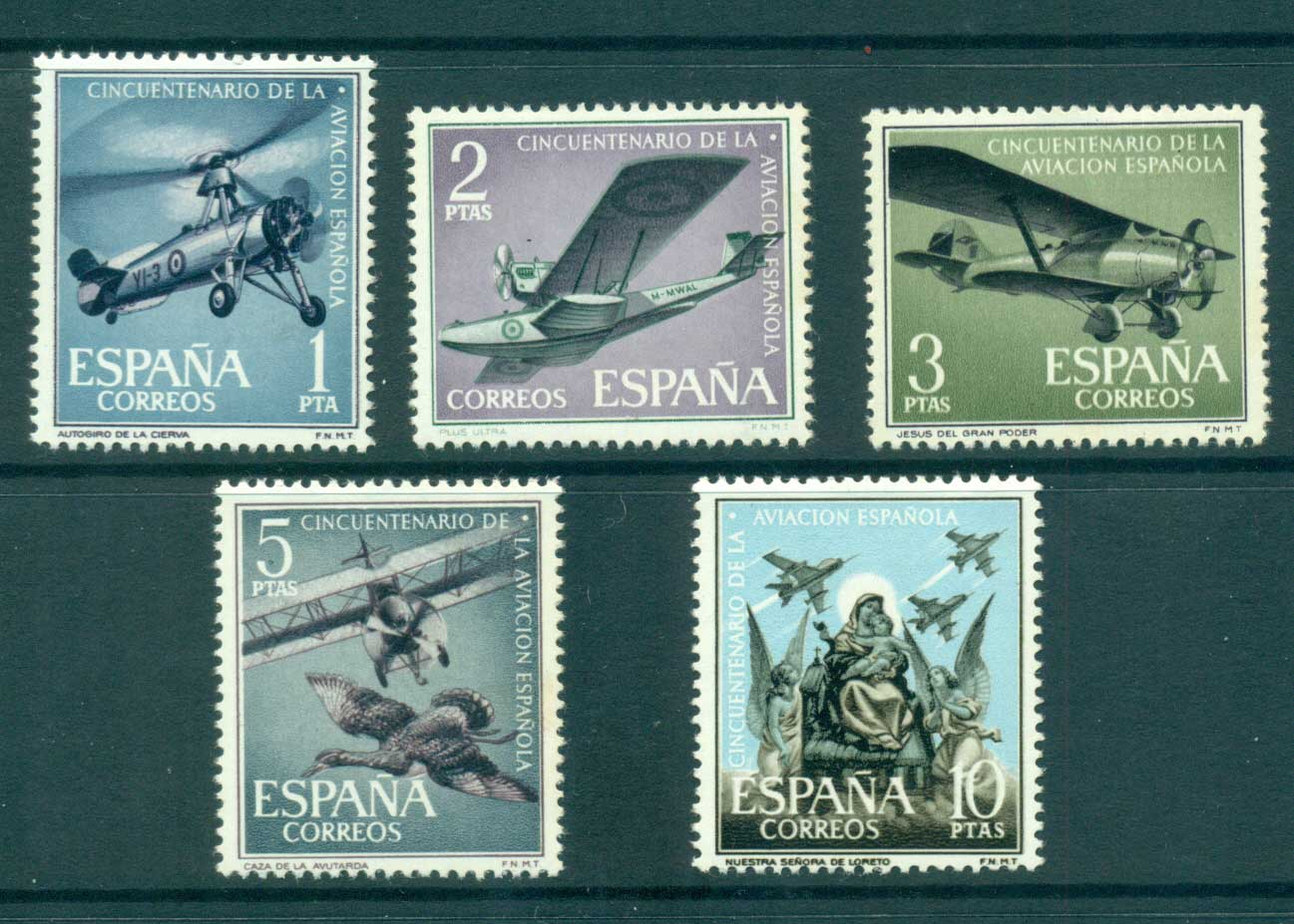 Spain 1961 Spanish Aviation MLH lot34838