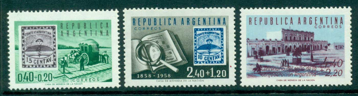 Argentina 1958 Centennial Philatelic Exhibition MUH lot35384
