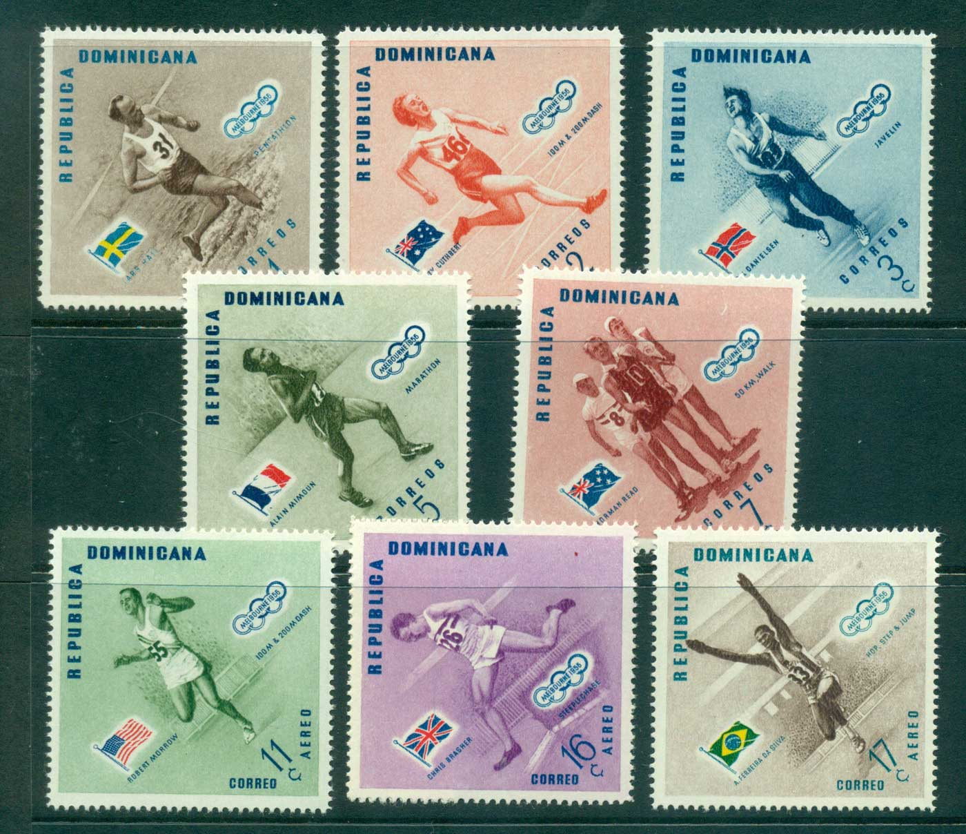 Dominican Republic 1957 Olympic Winners MUH lot35444