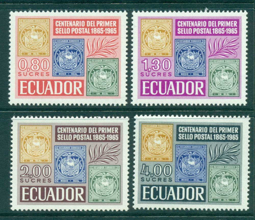 Ecuador 1965 Stamp Centenary MUH lot3553