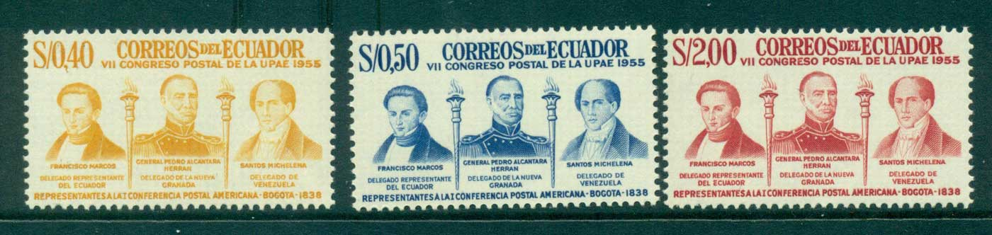 Ecuador 1957 Postal Congress MUH lot3570