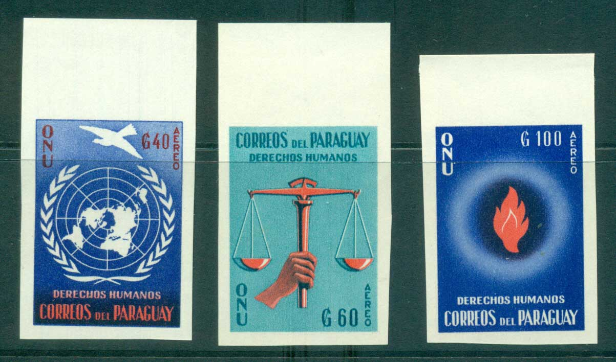 Paraguay 1960 Human Rights IMPERF MUH lot35505