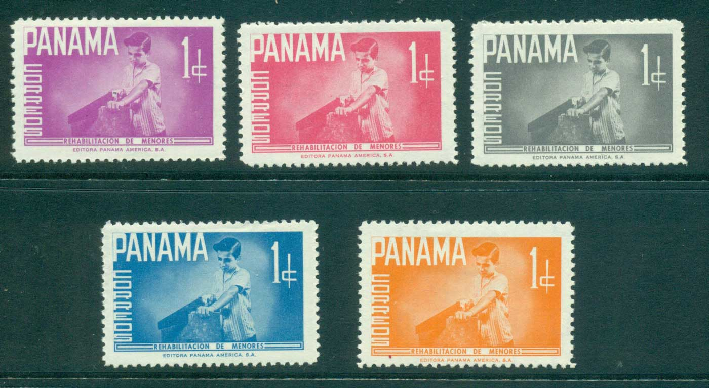 Panama 1961 Boy with Hand saw MLH lot35506