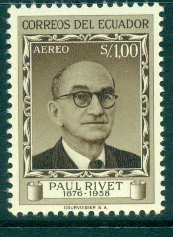 Ecuador 1958 Paul Rivet MUH lot35819