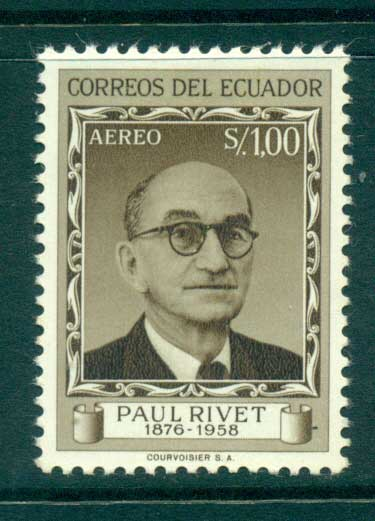 Ecuador 1958 Paul Rivet MLH lot35830
