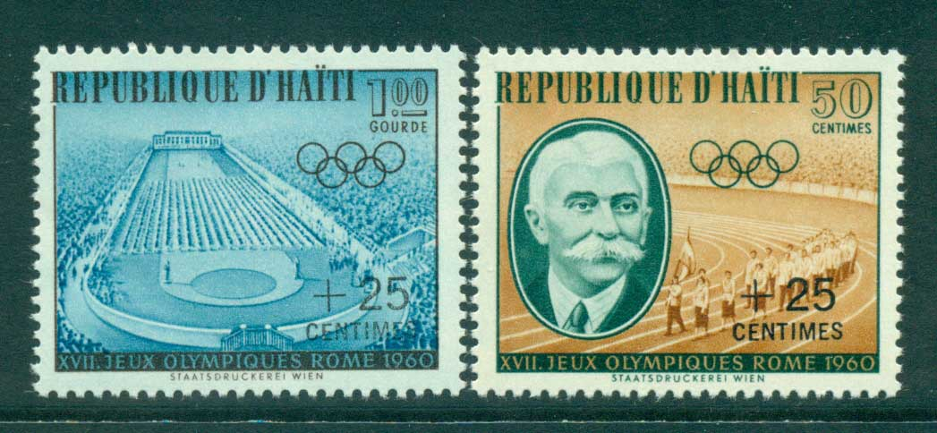 Haiti 1960 Olympics Surch (2)MLH lot35851
