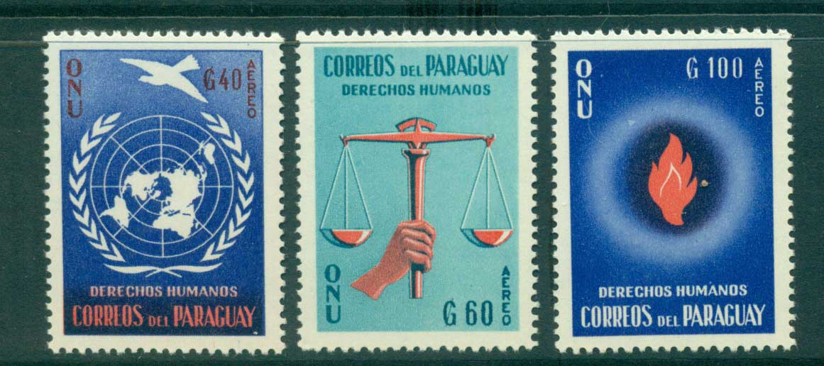 Paraguay 1960 Human Rights MUH lot35937