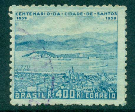 Brazil 1939 cent. Of Founding of Santos FU lot36200