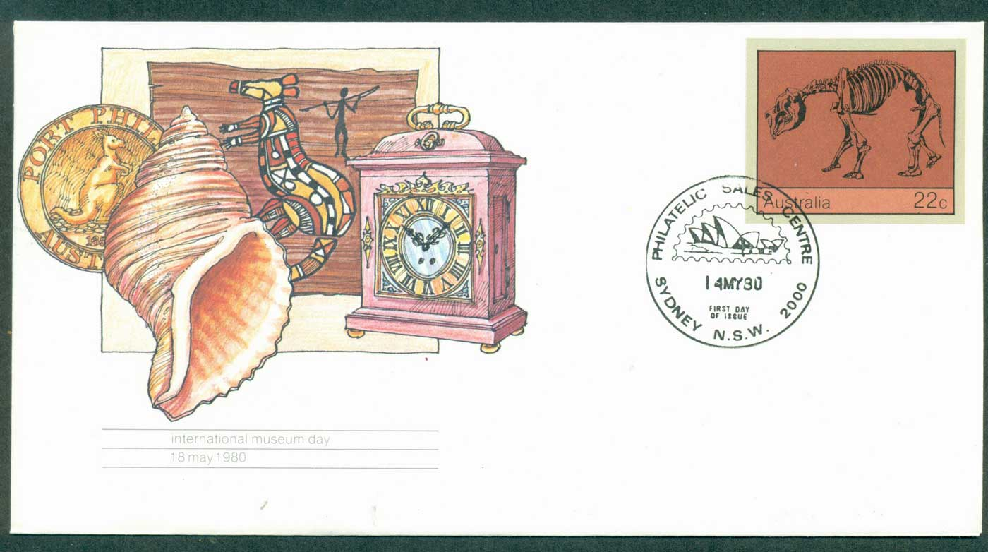 Australia 1980 International Museum day PSE Sydney FDI lot37002