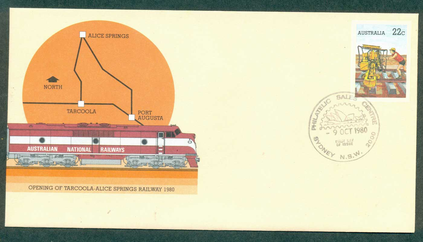 Australia 1980 Opening of Tarcoola-Alice Springs Railway PSE Sydney FDI lot37006