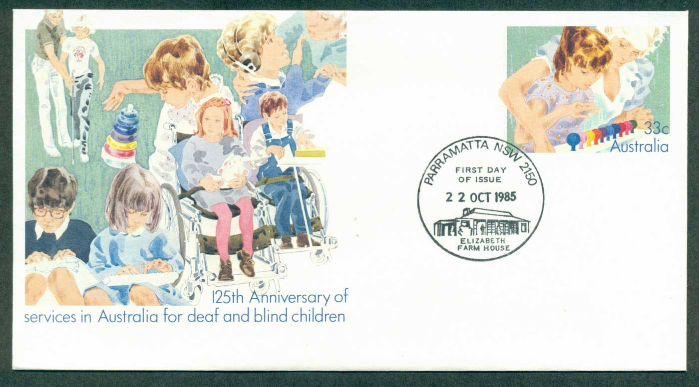 Australia 1985 Deaf & Blind Services PSE Paramatta FDI lot37051