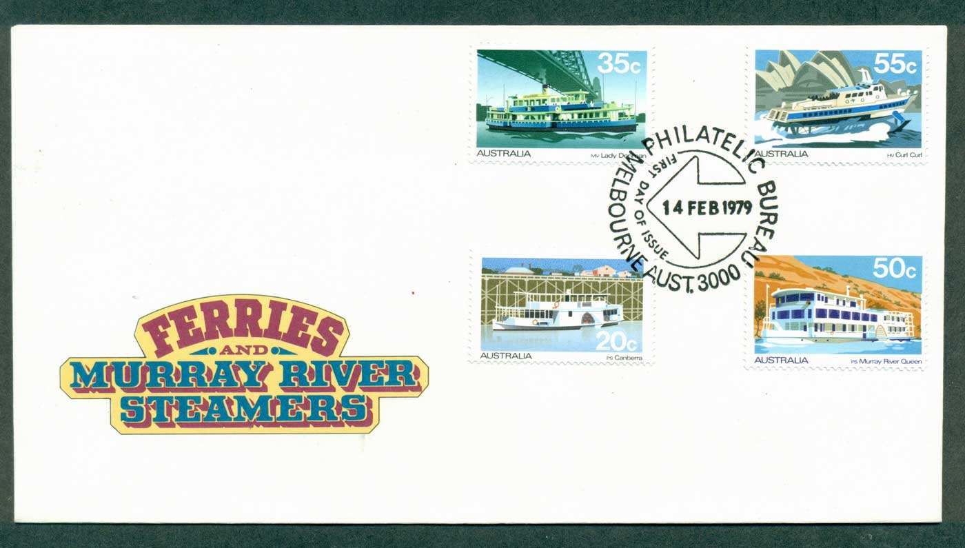 Australia 1979 Ferries & Murray river Steamers FDC lot37092