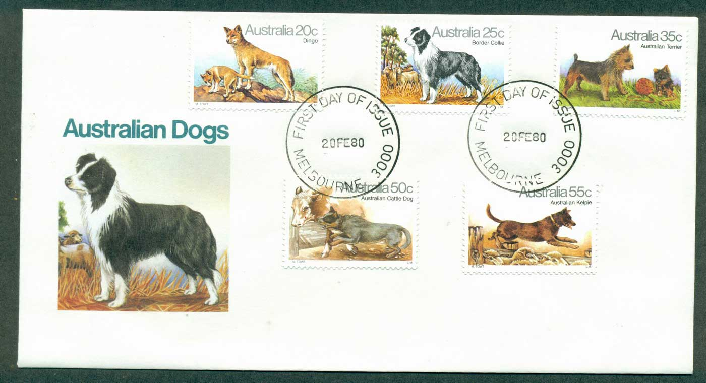 Australia 1980 Dogs of Australia, Melbourne FDC lot37094