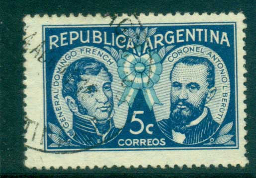 Argentina 1940 General French & Col. Beruti, Patriots FU lot37140