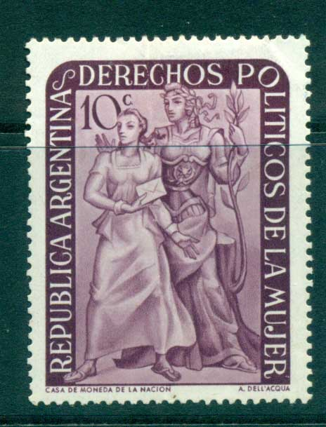 Argentina 1951 Granting Women's Suffrage MLH lot37195