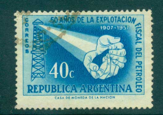 Argentina 1957 National Oil Industry FU lot37228