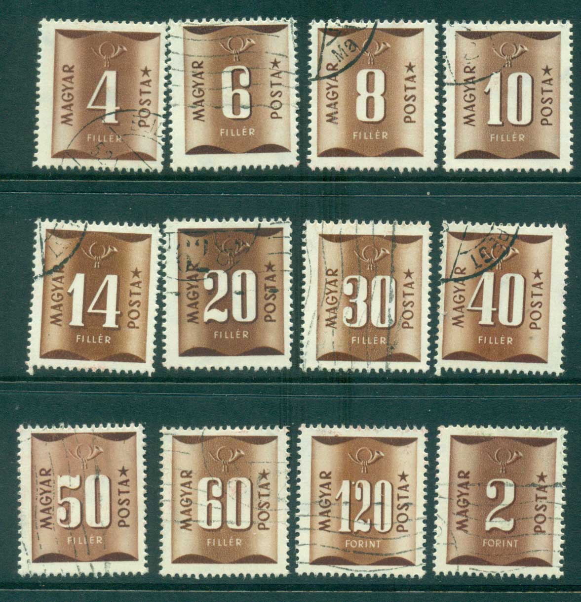 Hungary 1951 Postage Dues FU lot37613
