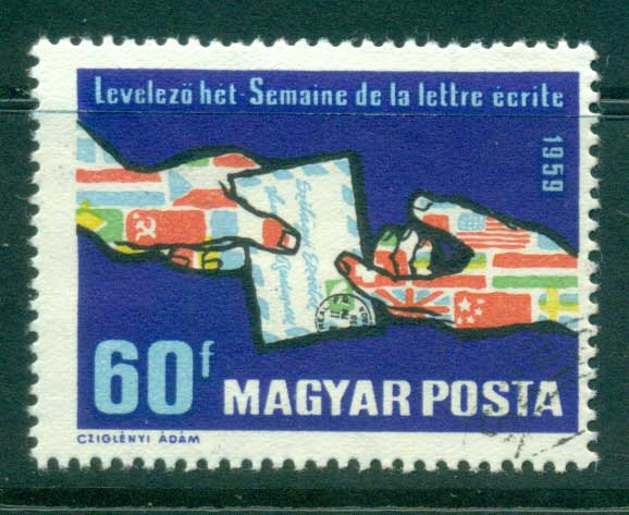 Hungary 1959 Letter Writing Week CTO lot37646