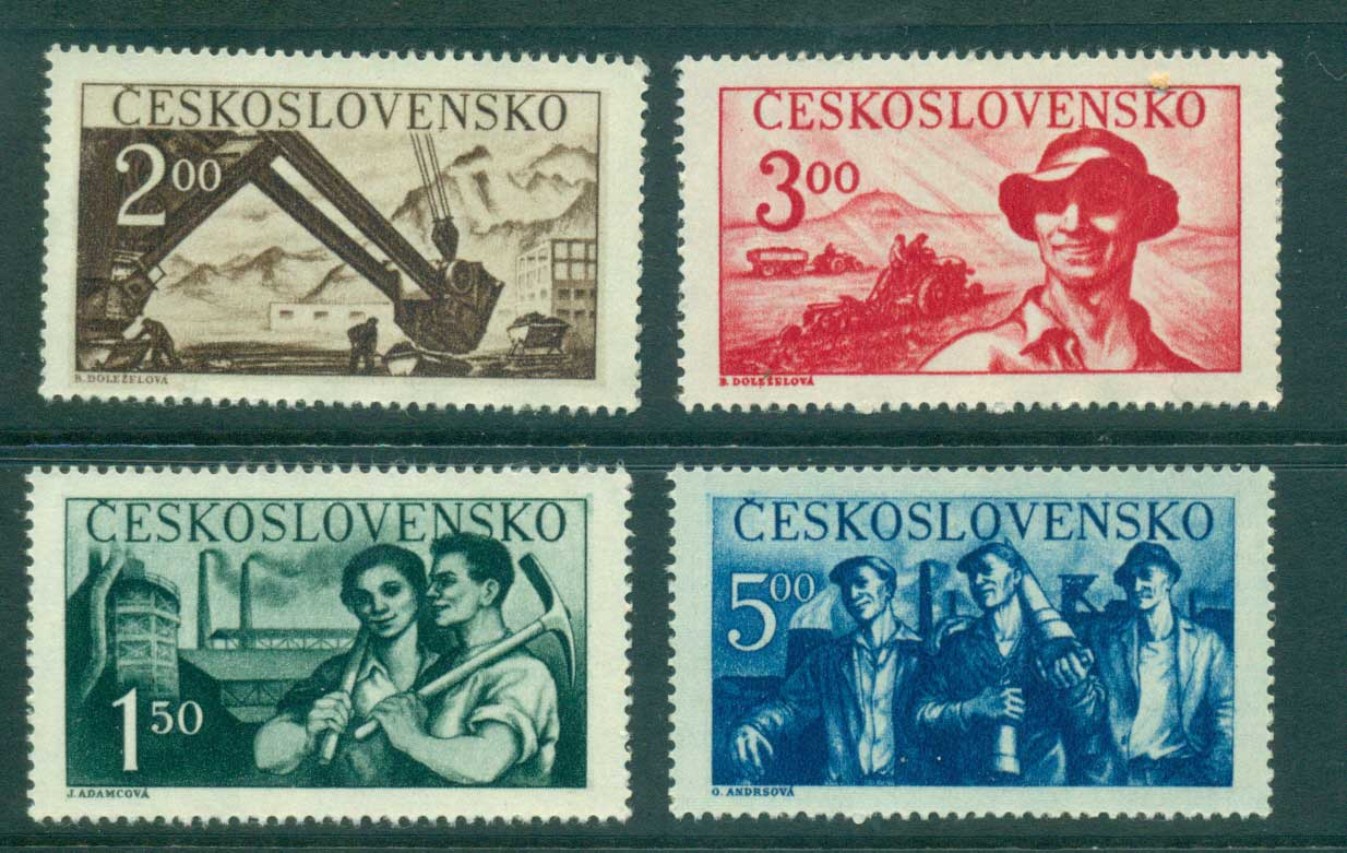 Czechoslovakia 1950 Factory Workers MUH lot38141